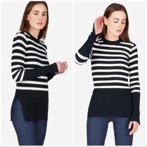 Everlane Breton stripe ribbed sweater